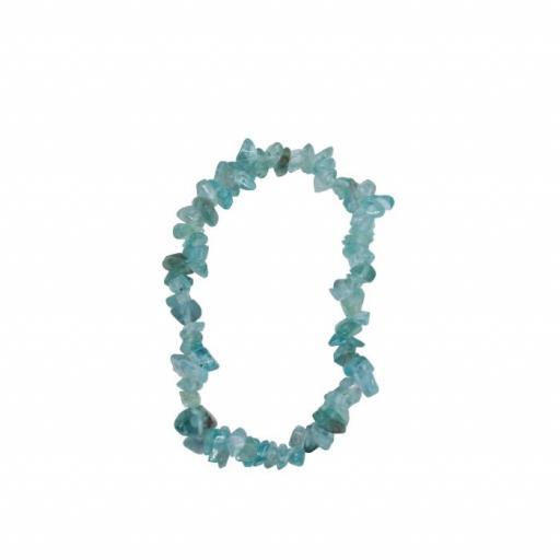Pulsera mineral chip de aguamarina [0]