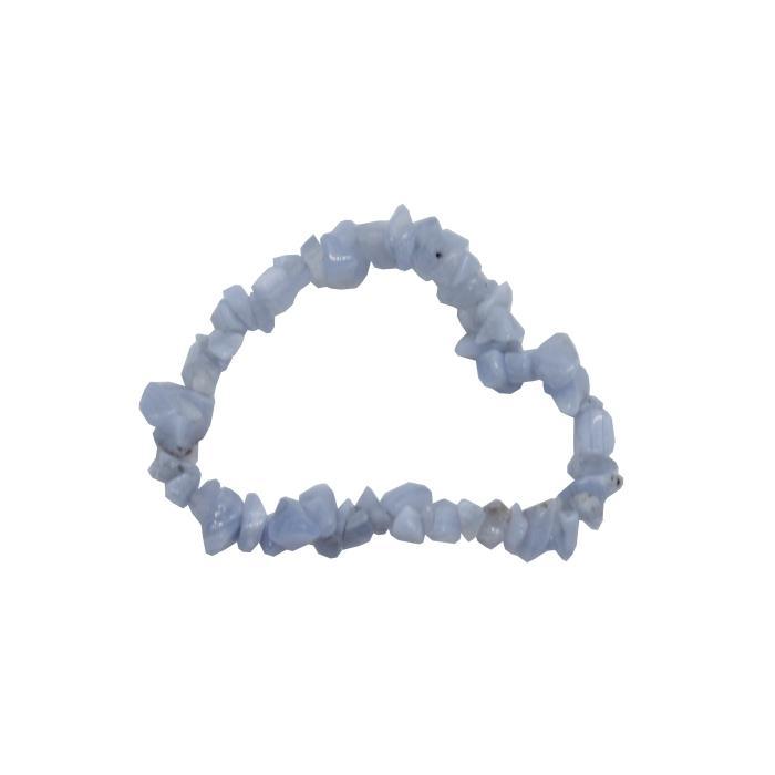 Pulsera mineral chip de calcedonia