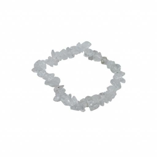 Pulsera mineral chip de cristal de roca
