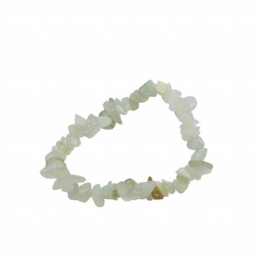 Pulsera mineral chip de jade