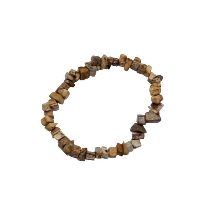 Pulsera mineral chip de jaspe paisaje