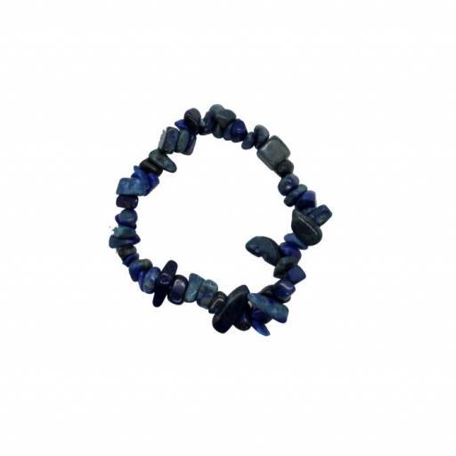 Pulsera mineral chip de lapislázuli [0]