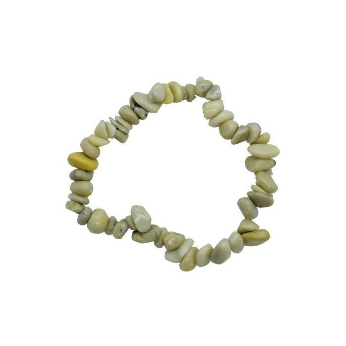 Pulsera mineral chip de serpentina