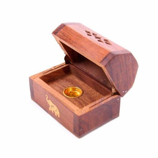 Quemador de incienso de madera para conos  [1]