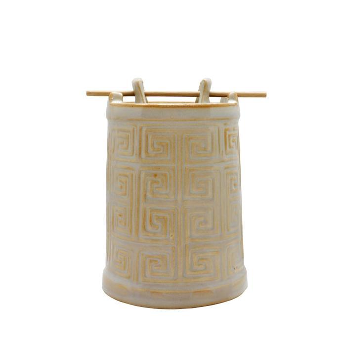Quemador de esencias cerámica marrón