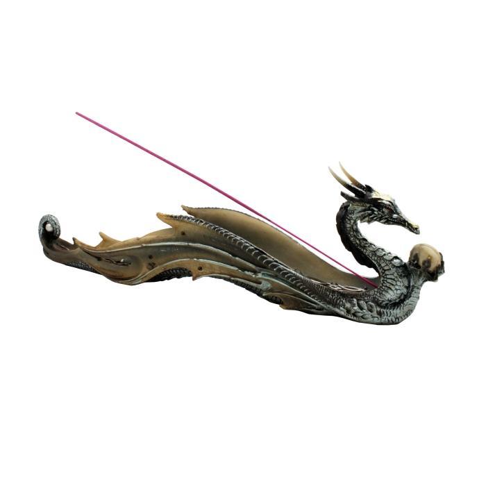 Quemador de incienso horizontal dragón con calavera