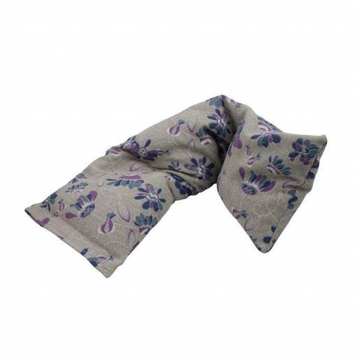 Saquito Térmico con Dibujo de Flores y Hojas Azules y Lilas [1]