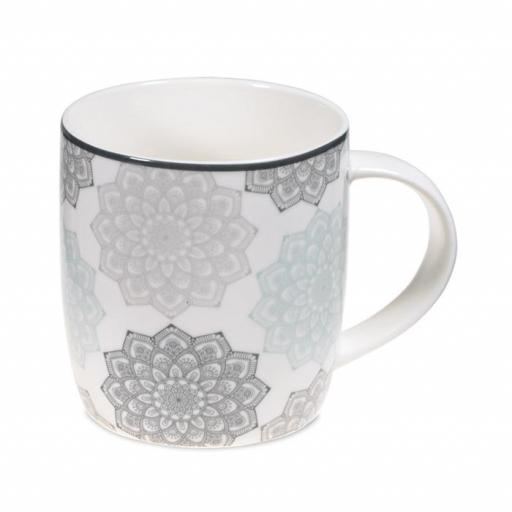 Taza con mandala gris [1]