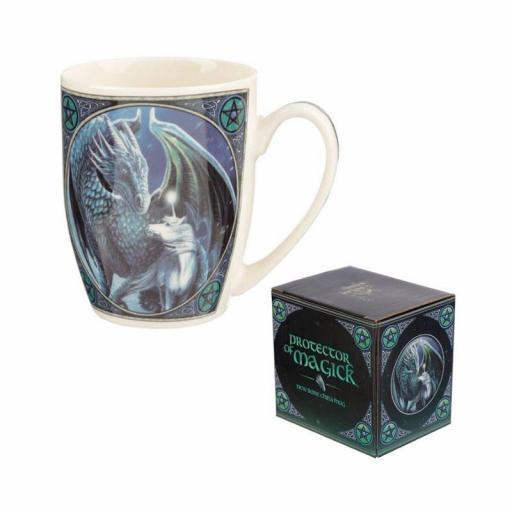 Taza de dragón con unicornio de Lisa Parker