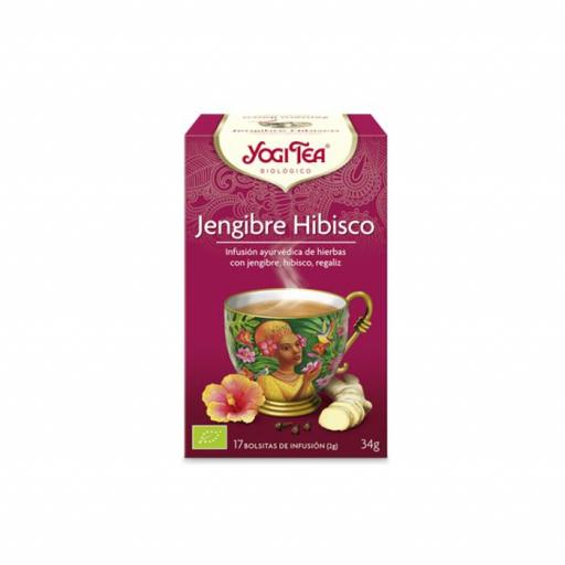 Té Yogi Tea  Jengibre Hibisco