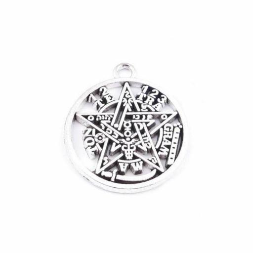 Amuleto Tetragramaton Grande de Metal