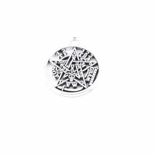 Amuleto Tetragramaton Mediano de Metal