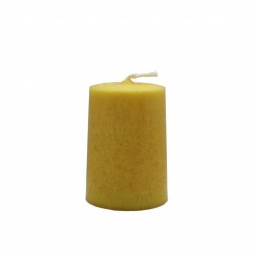 Vela artesanal cilindro amarilla