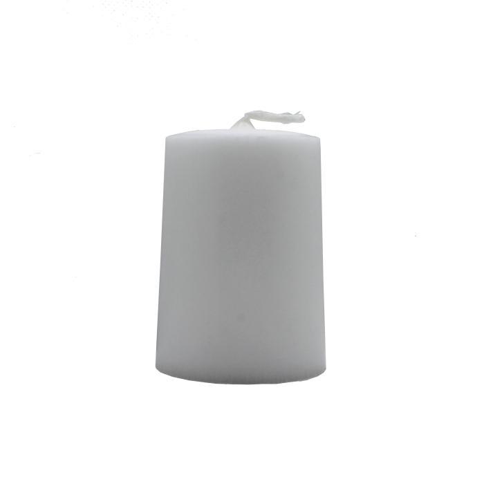 Vela artesanal cilindro blanco