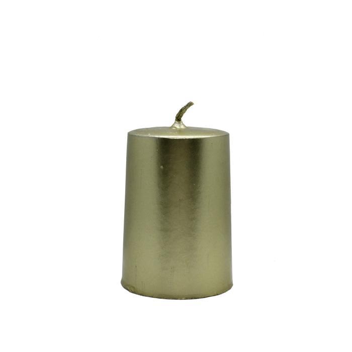 Vela artesanal cilindro dorada