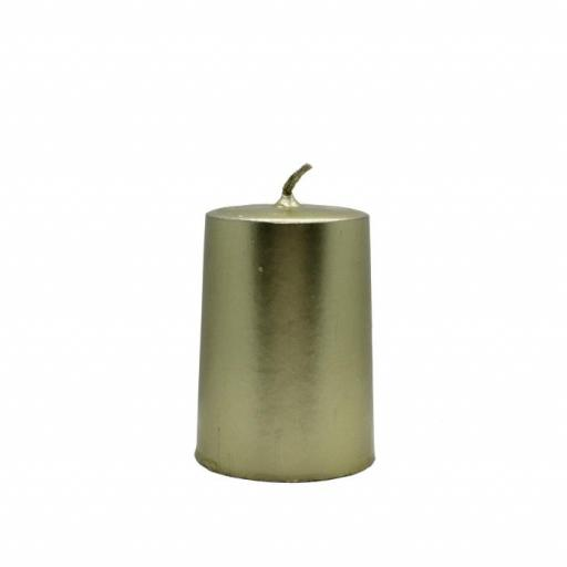 Vela artesanal cilindro dorada [0]