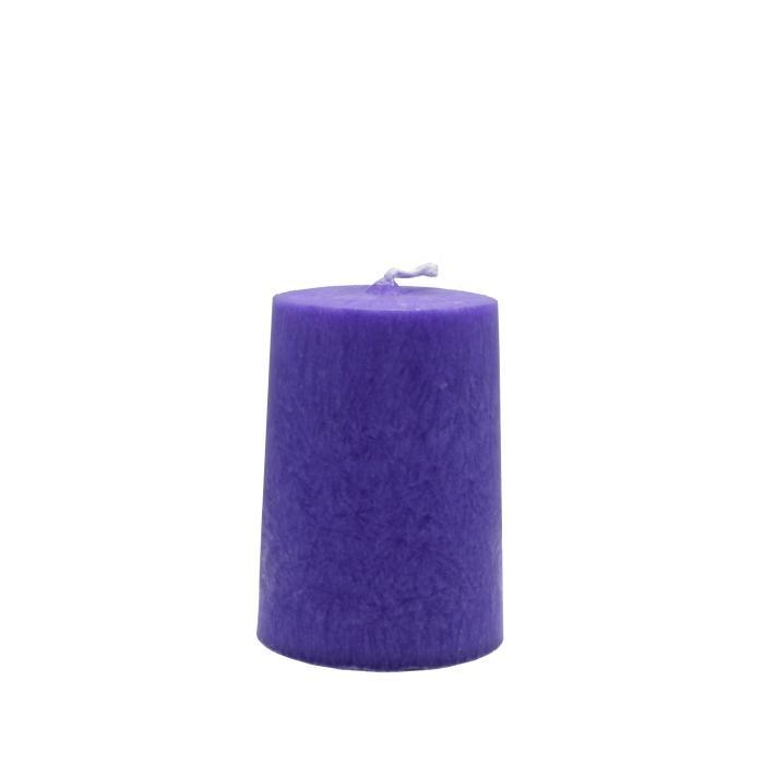 Vela artesanal cilindro lila