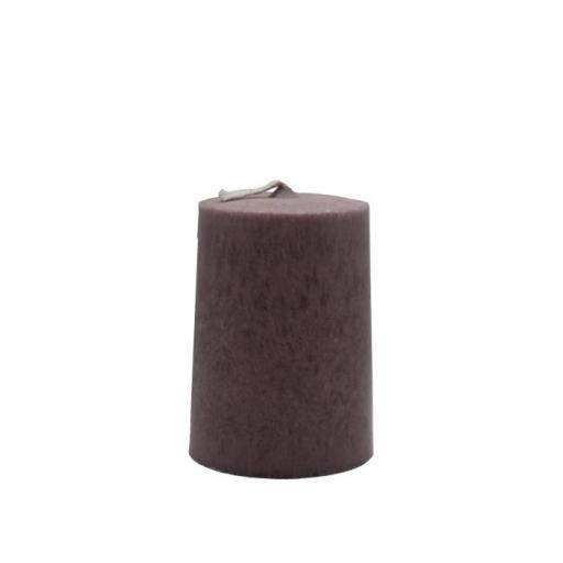 Vela artesanal cilindro marrón