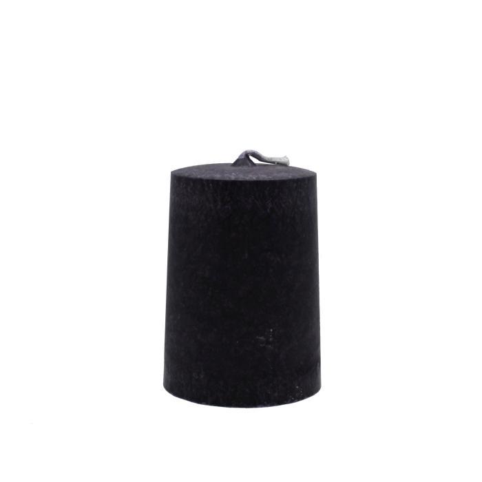 Vela artesanal cilindro negro