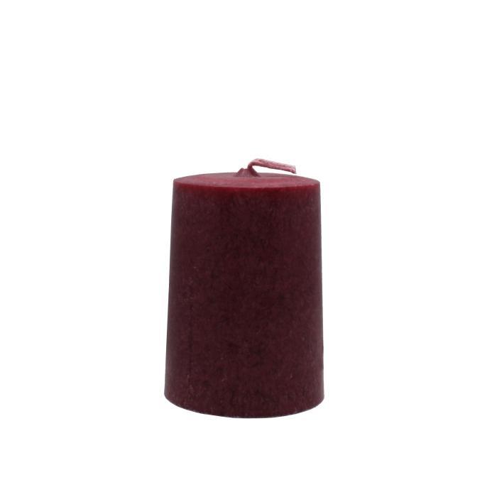 Vela artesanal cilindro roja