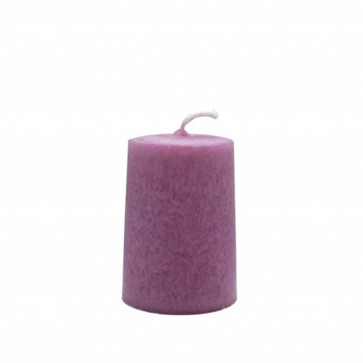 Vela artesanal cilindro rosa
