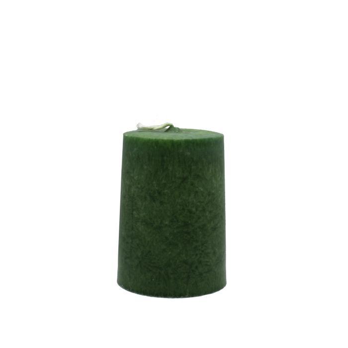 Vela artesanal cilindro verde