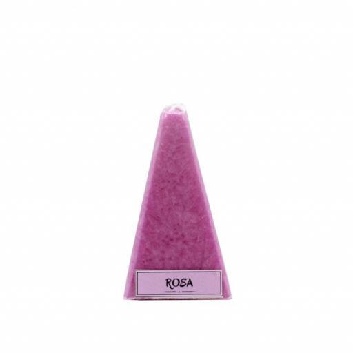 Vela artesanal de rosa