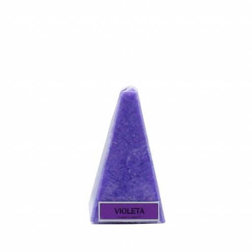 Vela artesanal de violeta