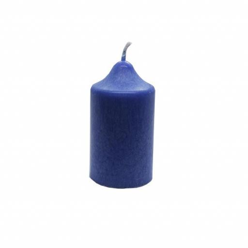 Vela artesanal pequeña azul [0]