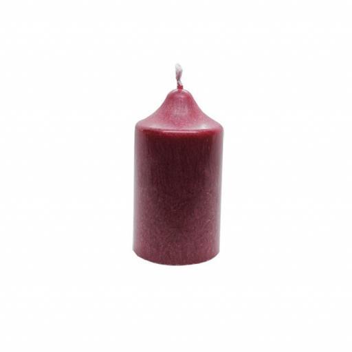 Vela artesanal pequeña roja [0]
