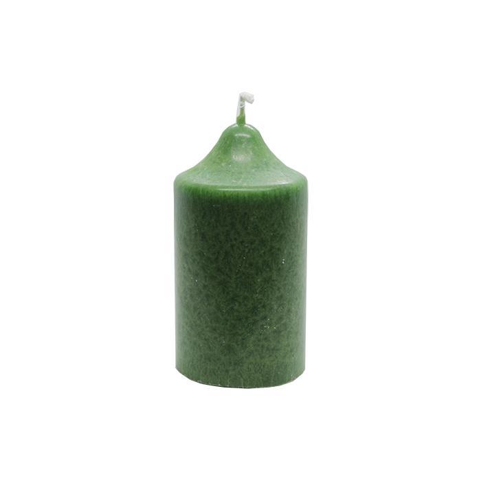 Vela artesanal pequeña verde