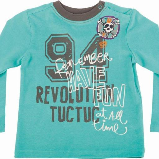 Camiseta Niño. Color Verde. TucTuc. Colección Born to Revolution OI15
