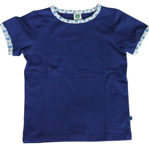 Camiseta Lisa con Cuello Apples. Color Azul Navy