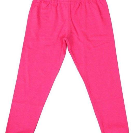 Leggings para niña. Con ribetes de Apples. Color Rosa. Smafolk