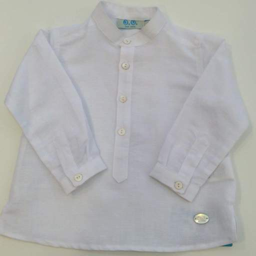 Camisa Cuello Mao. Color Blanco Jose Varon