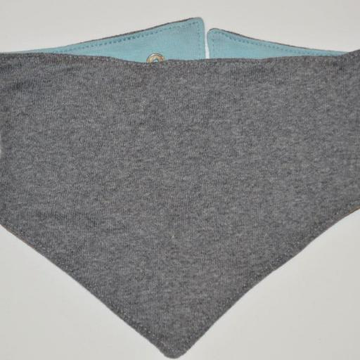 Bandana Reversible. Color Azul Cloud/Gris Vigore. Piu et Nau [1]