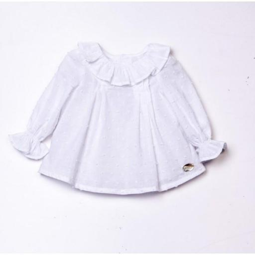 Blusa BB Plumeti. Color Blanco Jose Varon