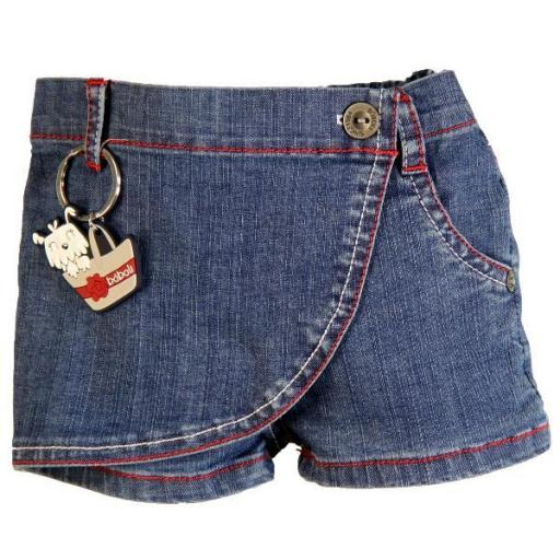 Boboli. Short-Falda Denim. Color Blue. Colección PV15