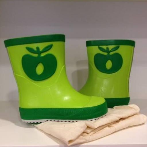 Smafolk. Bota Agua Apples. Color Verde