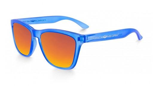 Gafas de Sol - Alpha - Transparent Matte Blue and Ornage