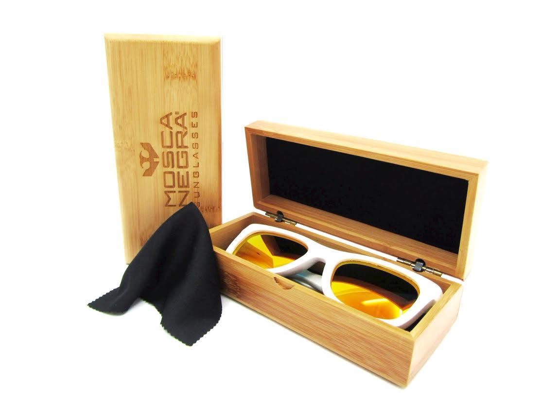 Caja Deluxe de bambú para gafas