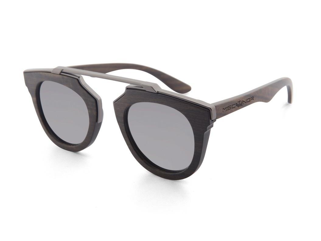 Gafas de madera LAGUNA Silver