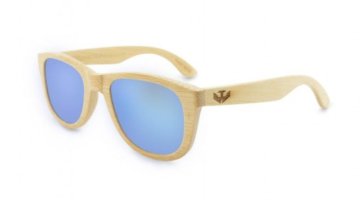 Gafas de Bambú - Bamboo and Ice Blue - Polarized