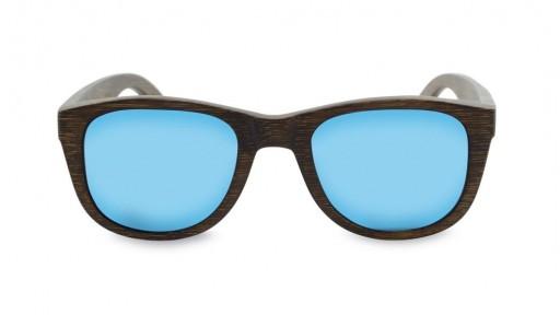 Gafas de Bambú - Brown Bamboo and Ice Blue - Polarized [1]