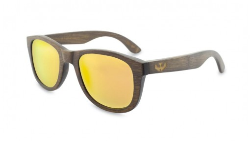 Gafas de Bambú - Brown Bamboo and Orange - Polarized