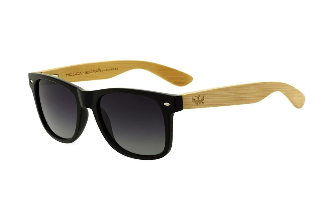 Gafas de madera Mix Basic Black - Polarized