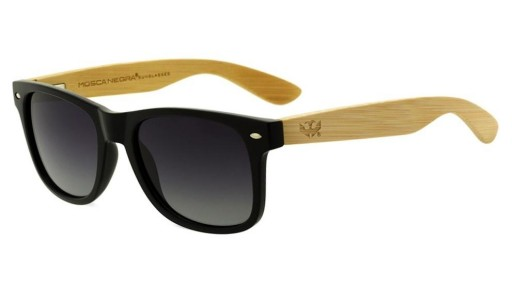 Gafas de madera Mix Basic Black - Polarized