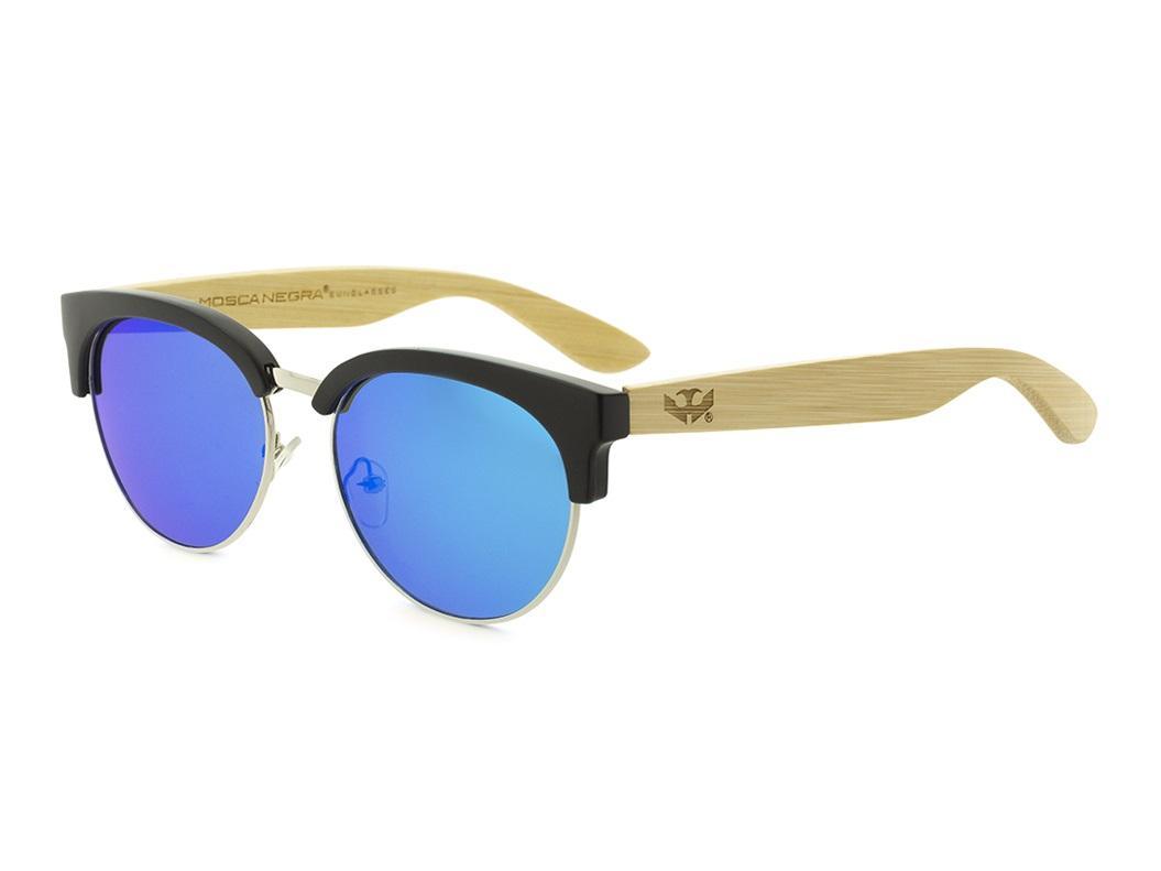 Gafas de madera Mix Metal Omega - Blue - Polarized