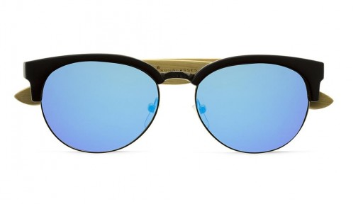 Gafas de madera Mix Metal Omega - Blue - Polarized [1]