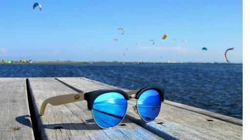 Gafas de madera Mix Metal Omega - Blue - Polarized [2]